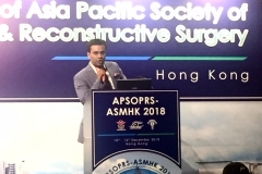 Dr Debraj Shome represented INDIA & gave an invited lecture on Advances in Mid Face Lifting techniques at the APSOPRS meeting, Hong Kong on 15th December 2018 (2)