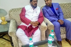 Dr. Debraj Shome was privileged to have a meeting and a discussion with Union Minister of State for Social Justice and Empowerment, Shri Ramdas Athawale ji, on 27th November 2018, at Mumbai