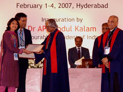 Dr. Debraj Shome & Dr. Rinky Kapoor with Dr. APJ Abdul Kalam