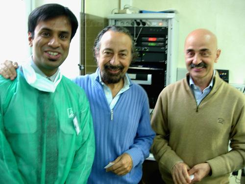 Dr. Debraj Shome with Dr. Giovanni & Dr. Mario Pelle Ceravolo