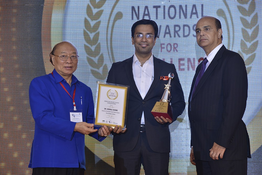 "Dr. Debraj Shome Awarded as ""Best Plastic Surgeon in India"
